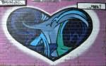blue heart swirl