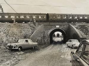 Bridego Railway Bridge, site of the Great Train Robbery, August 1963