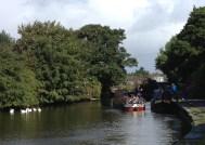 shaken boaters emerging from Rochdale