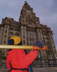 Liverpool Link infront of Liver Building