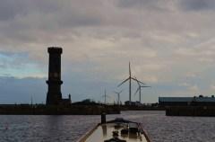 six faced clock tower Salisbury dock