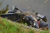 motorbike in canal
