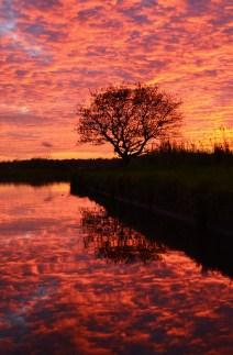 sunset on Bridgewater