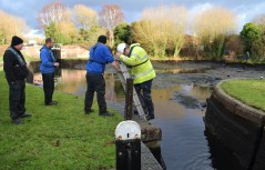 Lock inspection on Stourport locks