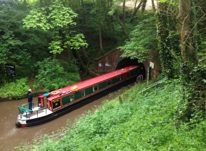 boat through Wast Hill Tunnel