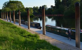 moored on Severn at Worcester