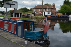 moored at Selby Lock
