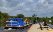 near boat slam on tidal River Ouse