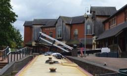 Banbury town centre lift bridge
